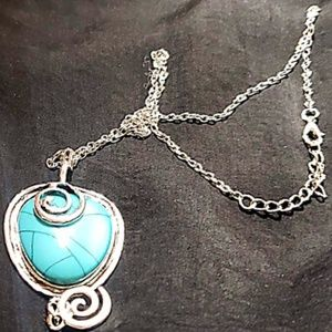 Handmade TIrqupoise silver sterling necklace